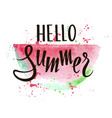 hello summer bright watermelon slices vector image