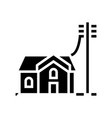house connected to electricity glyph icon vector image vector image