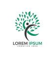 human tree health and medical logo design vector image vector image