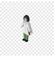 isolated medic isometric doctor element vector image