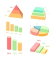 Isometric 3d charts layers graphs and vector image vector image