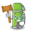 judge thermos character cartoon style vector image