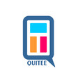 letter design emblem vector image