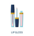 lip gloss cosmetic icons collection vector image