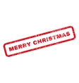 Merry Christmas Text Rubber Stamp vector image vector image