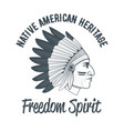 native american chief vector image vector image