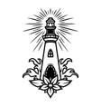nautical tattoo vintage concept vector image vector image