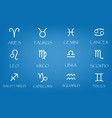 new zodiac signs icons set simple vector image