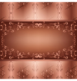 Ornamental background with seamless pattern vector image vector image