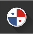 panama national flag on dark background vector image vector image