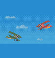 pixel helicopters for old game design layout air vector image vector image