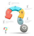 question mark business concepts with icons vector image