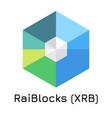 raiblocks xrb crypto coin vector image vector image