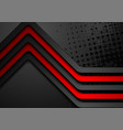 red black stripes abstract corporate background vector image