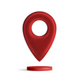 red map pointer isolated on white background find vector image vector image