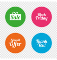 sale icons special offer symbols vector image vector image
