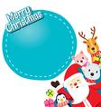 Santa Claus Animals And Gift Boxes vector image