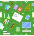 Seamless Background with Education Icons vector image
