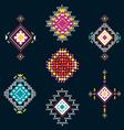 set decorative ethnic american vector image