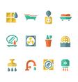 Set flat icons of bathroom vector image vector image