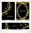 set of backgrounds with golden lights to design vector image vector image
