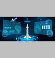 spacecraft futuristic hud panel vector image vector image