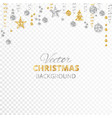 sparkling christmas glitter ornaments gold and vector image vector image