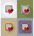 sport flat icons 75 vector image