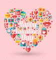st valentines day card design heart made love vector image vector image