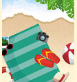 summer beach icon vector image vector image