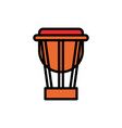 timpani filled line icon vector image vector image