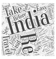 travel in india Word Cloud Concept vector image vector image