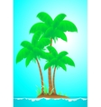 tropical landscape with island wave sun and palm vector image