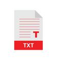 txt format file vector image