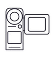 video cameramovie making line icon sign vector image