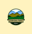 vintage farm or agriculture logo designs vector image
