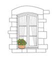 window colour vector image vector image
