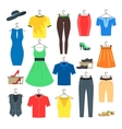 Woman and Man Clothe Set vector image