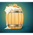 wooden barrel full of beer vector image vector image