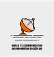 world telecommunication and information society vector image vector image