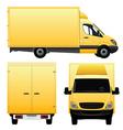 Yellow Cargo Van - Truck vector image
