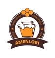 Beekeeper honey logo badge vector image