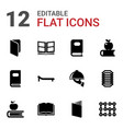 12 cover icons vector image vector image