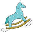 a toy horse for children a cartoon horse vector image