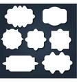 Abstract wavy shape sticker design vector image vector image