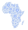 Africa silhouette of rain drops vector image vector image