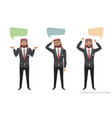 arab businessmen communicate dialog bubble for vector image