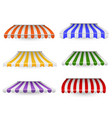 awnings striped outdoor canopy colorful for shop vector image