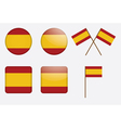 badges with flag of Spain vector image vector image