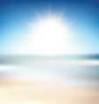 beach blur background 2605 vector image vector image